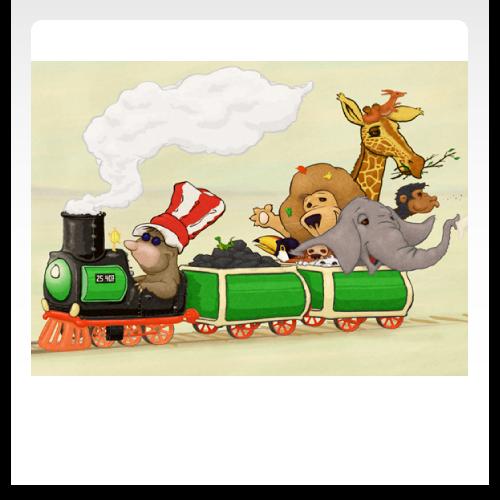 Tiere im Zug